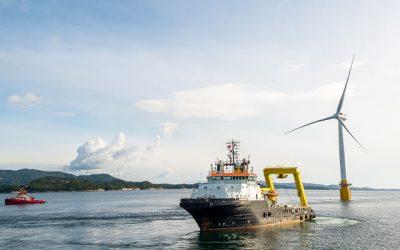 Offshore wind energy in Europe grew 25% in 2017
