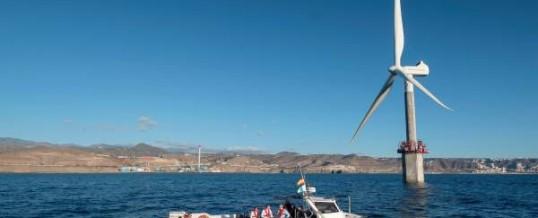 Clavijo resalta el potencial de Canarias para la investigación de energía eólica marina