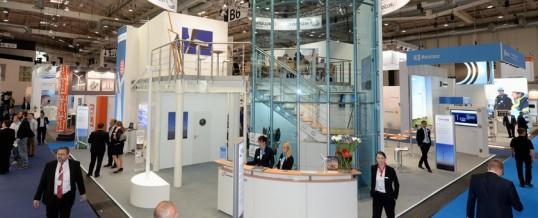 La industria naval de la comarca brilla en la feria Wind Energy