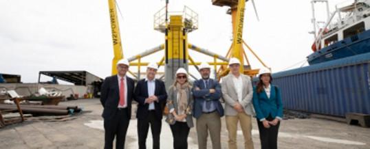 La primera plataforma flotante eólica de España, a punto de zarpar