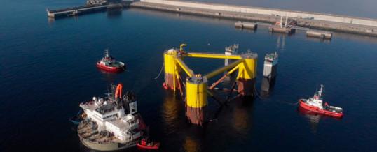 El proyecto de eólica marina flotante Windfloat Atlantic arranca el ensamblaje de las turbinas