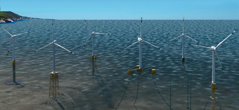 Recursos eólicos marinos en aguas profundas - Energía eólica marina