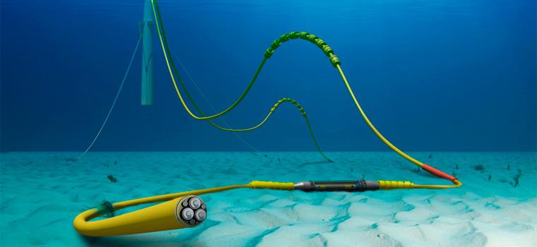 Los parques eólicos marinos usan cables submarinos para transmitir electricidad - Energías eólicas marinas