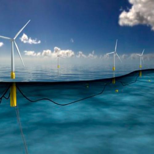 Parque de energía eólica flotante