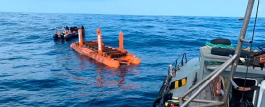 Arrecife instala su dispositivo captador de la energía de las olas en el banco de ensayos marinos BiMEP