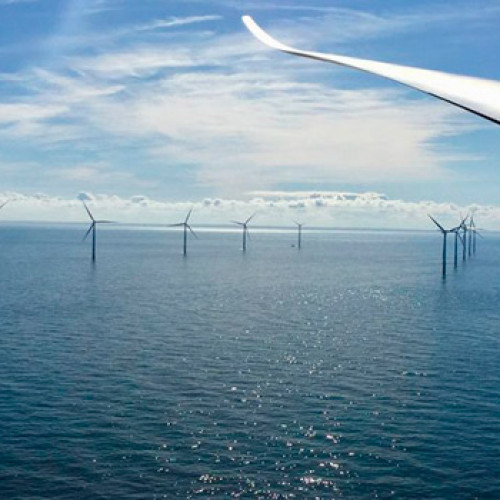 Los parques eólicos marinos cubren gran parte de la demanda eléctrica