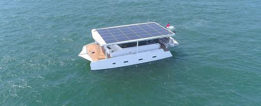 El catamarán eléctrico que funciona con energía solar