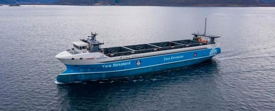 El primer buque de carga totalmente eléctrico y autónomo está listo para surcar los mares
